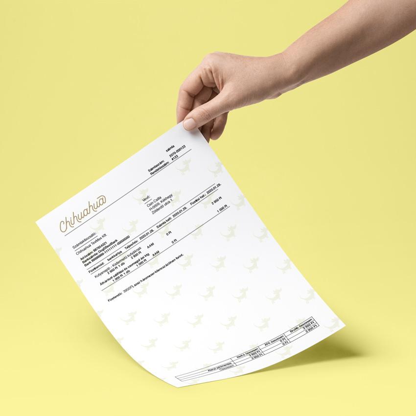 saját nyomtatvány egyik formája a számla alap